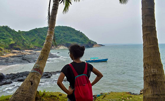 Blue trail of Gokarna