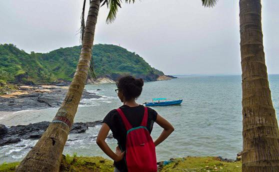 Blue trail of Gokarna